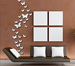 SIS 30 Butterflys- Mirror Face Wall Stickers ,Decals,tattoos,decor