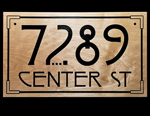 Arts and Crafts Style Address Sign (Craftsman Address Numbers compare prices)