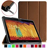 Fintie Samsung Galaxy Note 10.1 2014 Edition Case Cover - Ultra Slim Lightweight Stand Smart Shell with Auto Sleep/Wake Feature, Brown