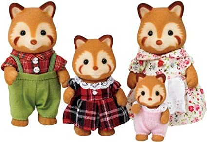 PANDA FAMILY RED SYLVANIAN by Sylvanian Families