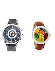 Foster's Men's Grey Dial & Foster's Women's Multicolour Dial Analog Watch Combo_ADCOMB0002337
