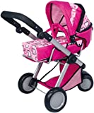 Bayer Design 18897 New City Max - coche de mu�ecas modulable con capazo desmontable, color rosa