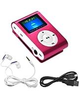 Swees® MINI LECTEUR MP3 ECRAN LCD 8 GO avec Radio FM Rose