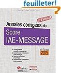 Annales corrig�es du Score IAE-Messag...
