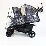 GRACO QUATTRO DUO TWIN TANDEM DOUBLE RAINCOVER
