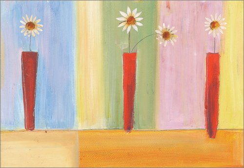 "Art 4 Kids ""Daisies In Red"" Mounted Art Print, 24""X18"""