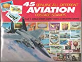 45 Genuine Postage Stamps Assortment - Aviation
