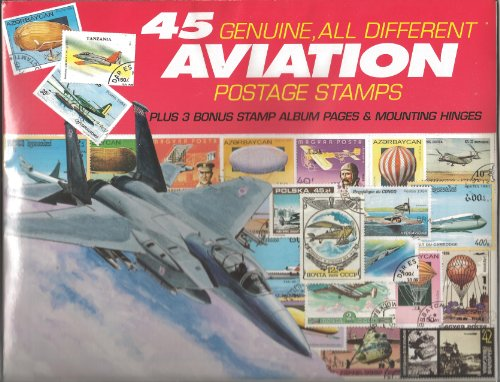 45 Genuine Postage Stamps Assortment - Aviation - 1