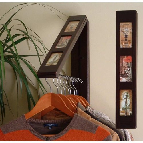 Instant Portable Closet Hanging System Picture Frame Espresso Instahanger front-459617