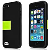 Ahha Archer Kickstand Back Case for Apple iPhone 5S / 5 - Black / Green (A-KCIH5-0A16)