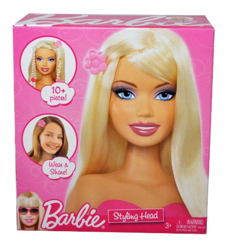 Barbie Year 2009 Fashionistas Series Styling Head with 10+ Pieces of Share and Wear Hair Accessory