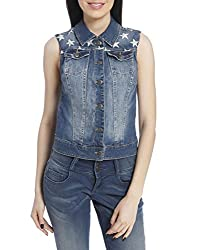 Only Women'S Casual Waistcoat (_5711648447762_Denim Medium_40_)