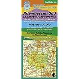 Rheinhessen Süd / Landkreis Alzey-Worms 1 : 30 000 Radfahren: Radeln von Saulheim bis Worms und von Wöllstein...