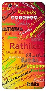 Rathika (Popular Girl Name) Name & Sign Printed All over customize & Personalized!! Protective back cover for your Smart Phone : Apple iPhone 6