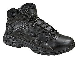 Men\'s Thorogood Slip - resistant Mid Uniform Boots Black, BLACK, 11M