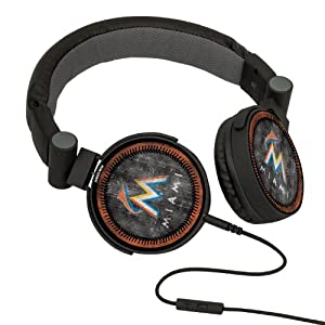 MLB Miami Marlins Washed Logo Headphones by Pangea Brands