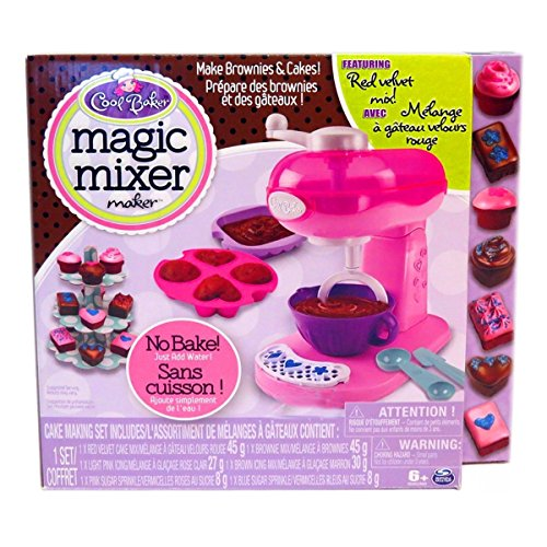Cool Baker Magic Mixer Maker Pink Red Velvet Cake Brownie Kids Playset (Magic Mixers compare prices)
