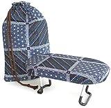 きものやさん ベーシックな正座椅子 袋付き(紺絣)