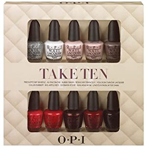 Opi Nail Lacquer 10 Piece set, Take Ten Mini Kit