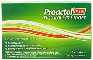 Proactol Plus Clinically Proven Fat Binder | 1 Month 120 Tablets