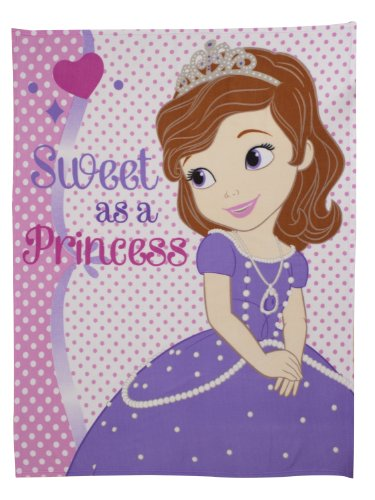 Character World Disney Sofia The First Amulet Fleece Blanket, Multi