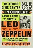 Vintage Led Zeppelin Tour Gig Concert Reproduction A3 Poster / Print 260GSM Photo Paper