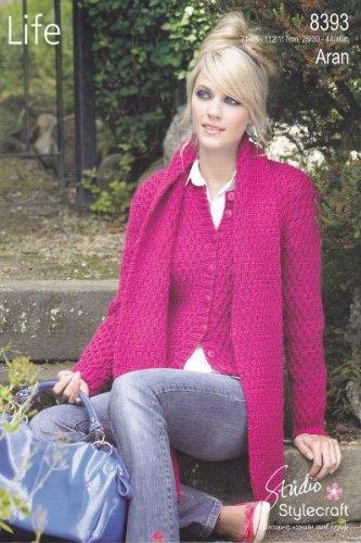 Stylecraft Aran Knitting Pattern for Women's