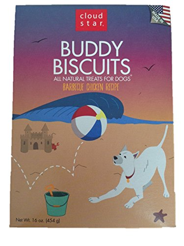 Cloud Star Buddy Biscuits Dog Treats, Barbeque Chicken, 16 Ounce Boxes (Pack Of 2)