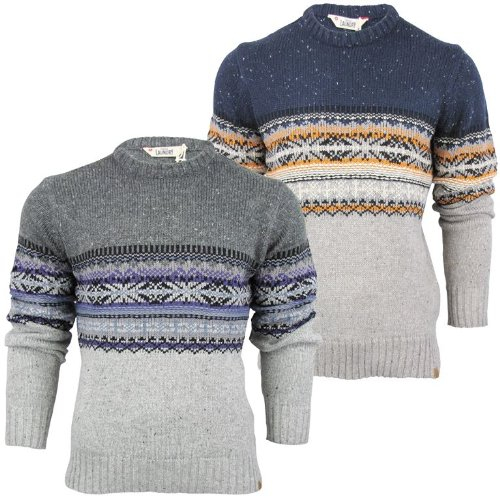 Mens Crew Neck Nordic Style Sweater