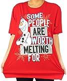 Disney Women's Plus-Size Frozen Olaf Graphic T-shirt