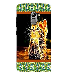 PrintDhaba Digital cat D-4752 Back Case Cover for LENOVO VIBE X3 c78 (Multi-Coloured)