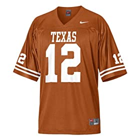 Nike Texas Orange Replica #12 Texas Longhorns Football Jersey