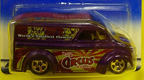 2000 - Mattel - Hot Wheels - Circus on Wheels Series - #4 of 4 - Dairy Delivery (Purple) World's Smallest Circus Clowns Graphics - Gold Wheels - New - Out of Production - Collectible - 1