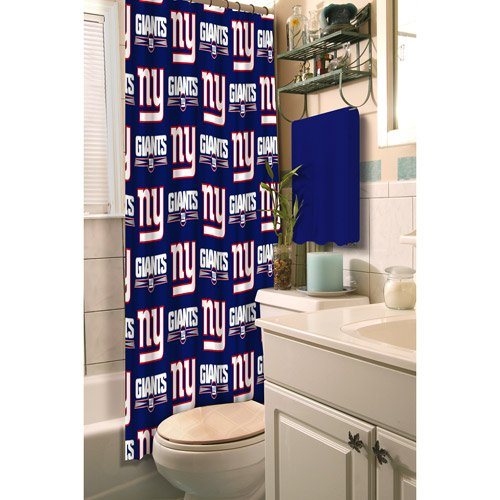New York Giants Fabric Shower Curtain at Amazon.com