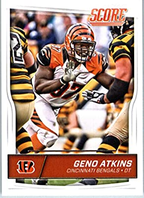 2016 Score #72 Geno Atkins Cincinnati Bengals Football Card in Protective Screwdown Display Case