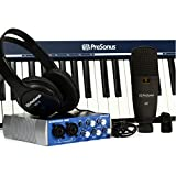 PreSonus Music Creation Suite Interface audio/MIDI USB 2.0 + Casque dynamique st�r�o HD3 + Microphone + C�bles + Clavier Noir