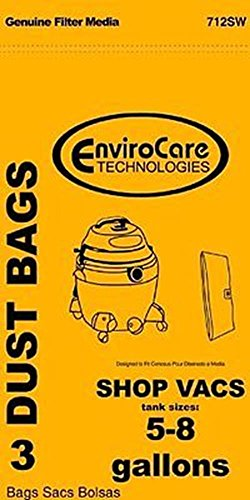 Vacuum Cleaner Bags SHOP VAC Paper Bags-3PK-Fits All Tank Sizes 5-8 GALLON REPLACEMENT (Universal Shop Vac Filter compare prices)