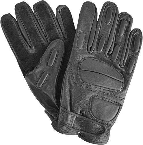 Security-Lederhandschuhe-mit-Protektoren-und-schnitthemmender-Kevlar-Griffflche-Operator-Farbe-Black-Gre-M