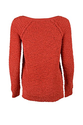 Sanctuary Clothing Women's Teddy Bear Sweater, Aurora Red, X-Small