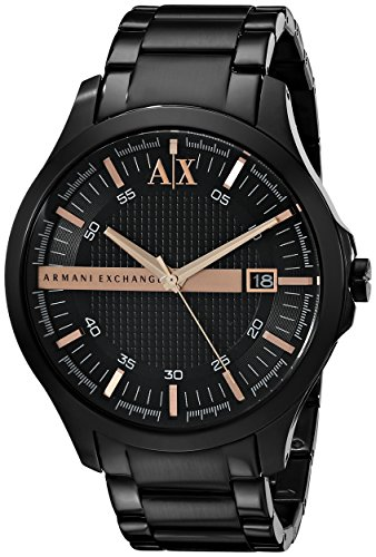 Armani Exchange AX2150 46mm Black Steel Bracelet & Case Mineral Men's Watch