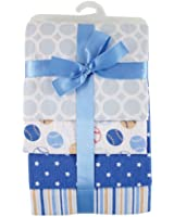 Hudson Baby Flannel Receiving Blankets, Blue