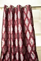 Red crinkled faux silk easy to maintain curtain