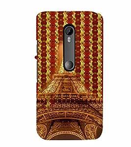 PrintVisa Travel Paris Eifel 3D Hard Polycarbonate Designer Back Case Cover for Motorola Moto G3