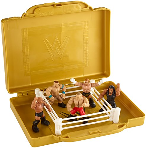 WWE EMC Portable Mini Ring Playset with 5 Mini Figures (Figure Rings compare prices)