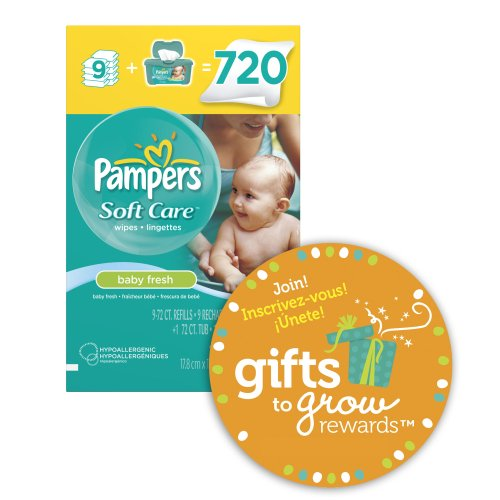 Pampers Pampers Softcare Baby Fresh Wipes 10x Box With Tub 720 Count