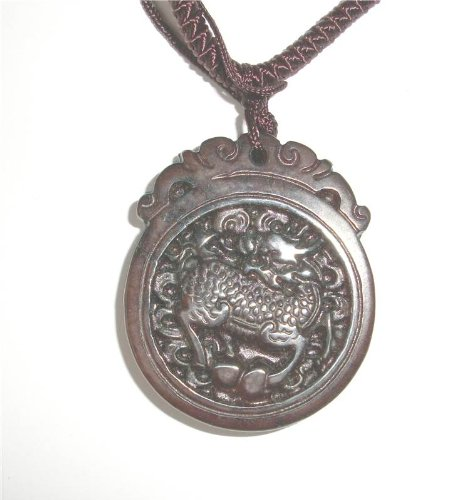 Carved Dragon Scene Red Jade Gemstone Pendant