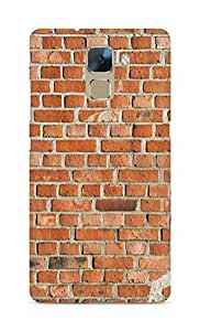 Amez designer printed 3d premium high quality back case cover for Huawei Honor 7 (Texture brick wall)