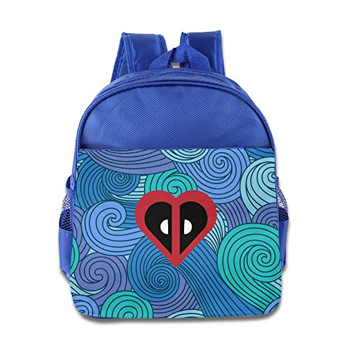 [Logon 8 Heart About Cute Cool Movie Character Cute School Bags RoyalBlue For 3-6 Years Olds Baby] (Dwayne Johnson Baby Costume)