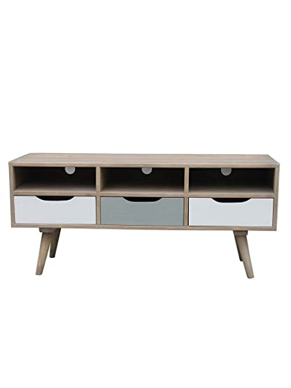 Mobile Tv Scandi Cassetti Toni Nature 120X41X53 cm Variante unica