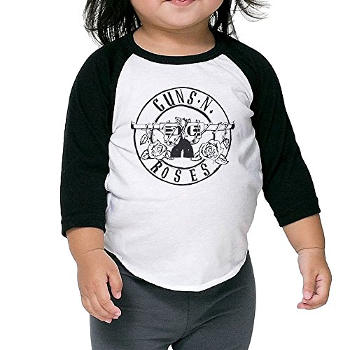 Boys&Girls Guns N Roses Sweet Child O' Mine Dress 3/4 Sleeve Raglan Tee (Child Of Mine Clothes compare prices)